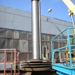 Hammer mill rotor shaft