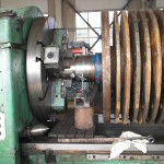 Hammer mill rotor with discs